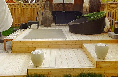 paysagiste construction terrasse bois longueuil